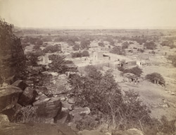 General view from the hill of the village of Aihole